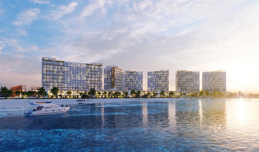 Hồ Tràm Complex có 2 mặt tiếp giáp đường ven biển, 2 mặt còn lại tiếp giáp khu dân cư, du lịch