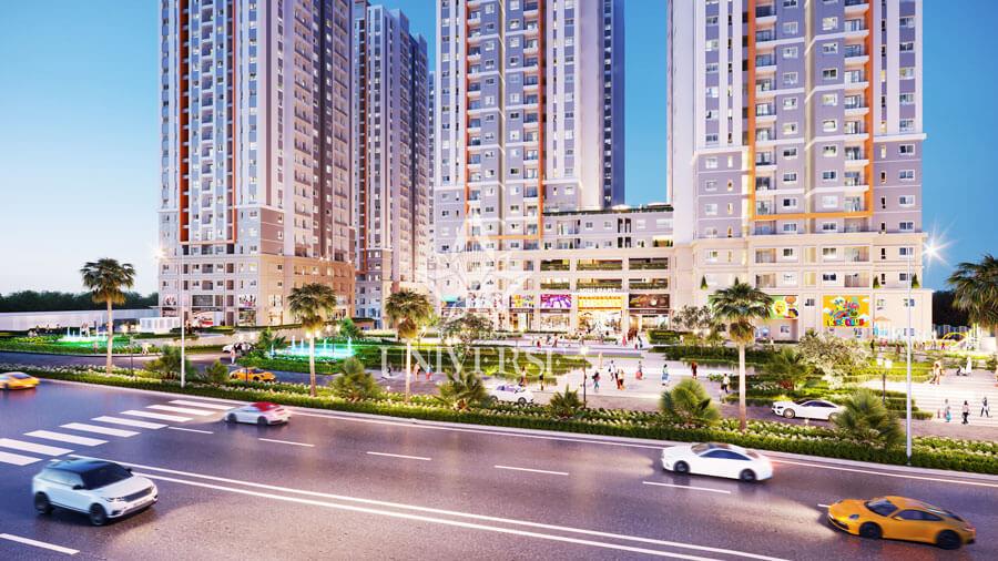 Phối cảnh khu thương mại Universe Biên Hòa