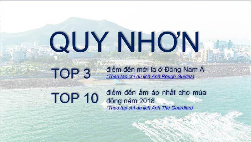 Quy Nhơn Melody thuộc top 3