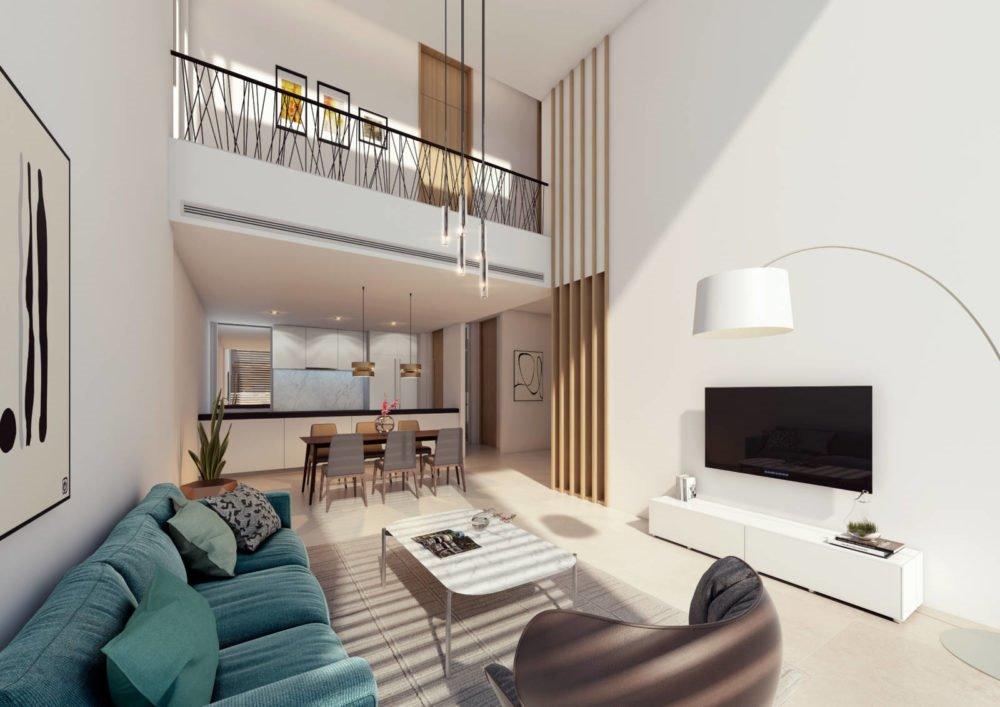 Căn hộ Duplex tận dụng được tối đa nguồn sáng tự nhiên