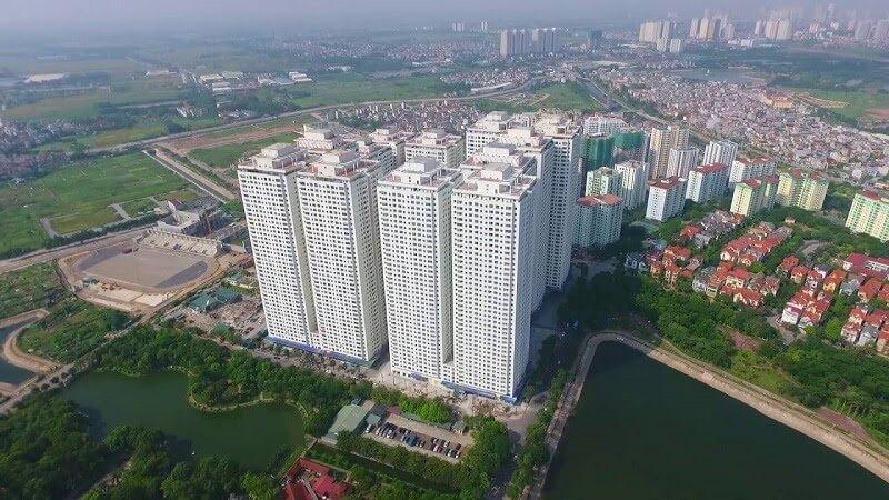 Tổ hợp khu đô thị HH Linh Đàm gồm 12 tòa nhà