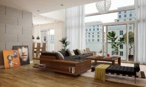 Xu hướng thiết kế chung cư nội thất gỗ thịnh hành ngày nay