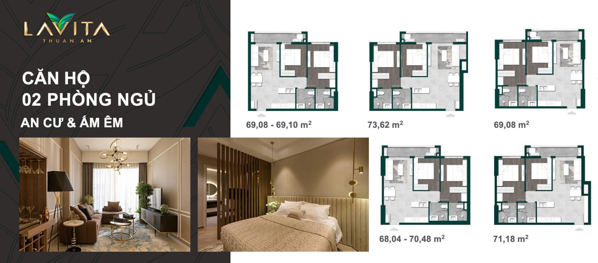 Căn Hộ 02 Phòng Ngủ
